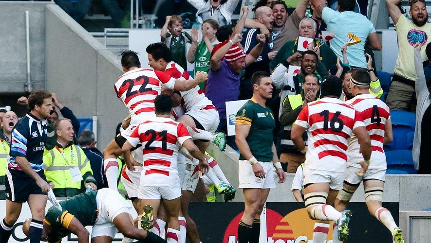 Coupe du monde 2015 - Il y a quatre ans, le Japon réalisait le plus bel exploit de son Histoire contre l'Afrique du Sud. Les Nippons retrouvent ce vendredi ces mêmes Sud-Africains Photo Icon Sport