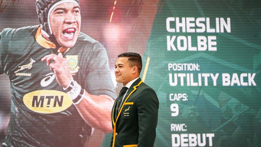 Cheslin Kolbe (Afrique du Sud) s'est illustré contre le japon avec son compatriote Makazole Mapimpi.