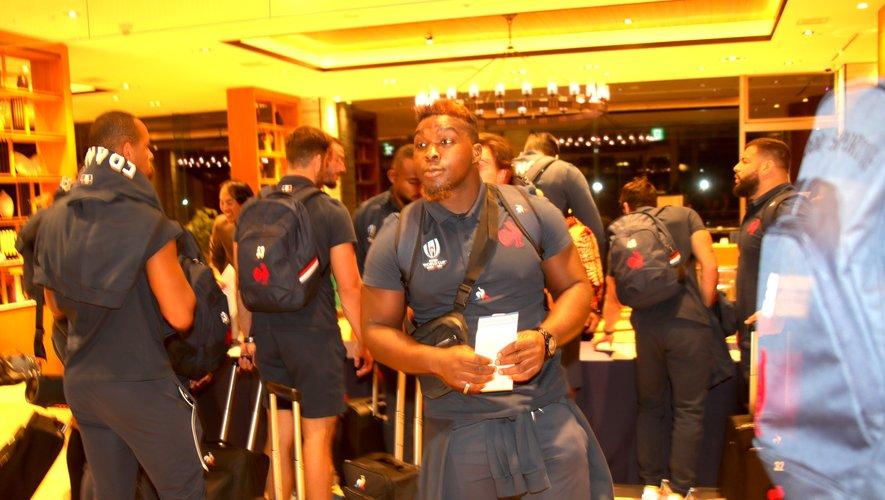 Demba Bamba (France) à son arrivée au Japon