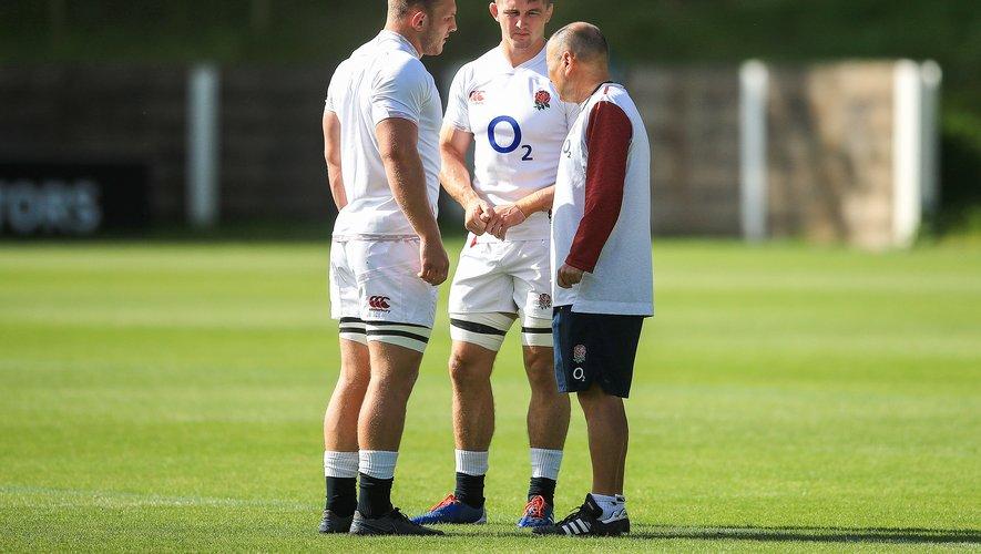 Sam Underhill, Tom Curry et Eddie Jones (Angleterre)