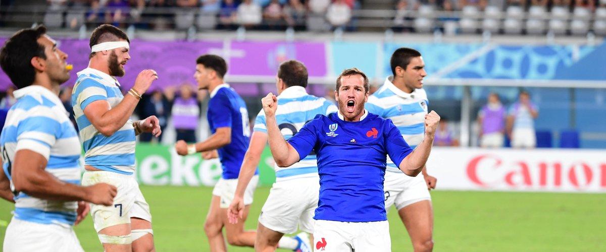Camille Lopez (France) après la victoire contre l'Argentine