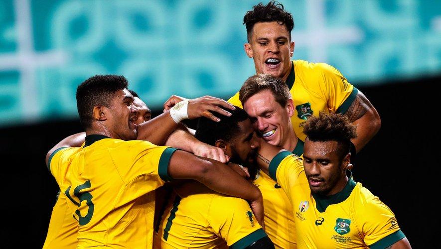 Les Australiens célèbrent la victoire contre les Fidji