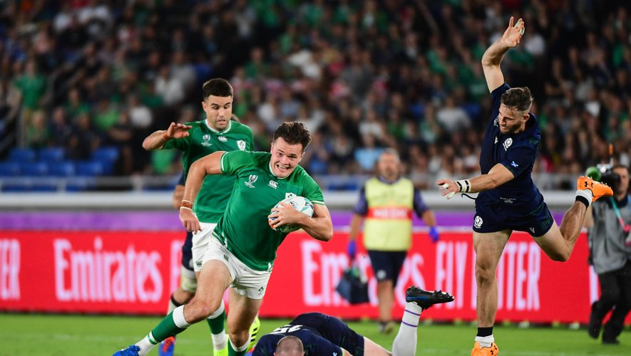 Jacob Stockdale (Irlandais) contre l'Écosse