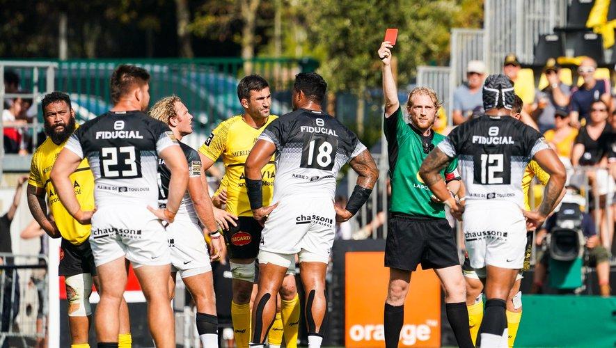 Werner Kok (Toulouse) prend un carton rouge contre la Rochelle, est suspendu 1 match