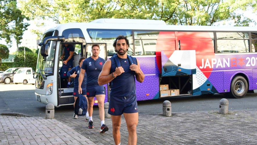 Yoann Huget à la descente du bus