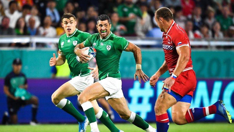 Rob Kearney (Irlande) contre la Russie