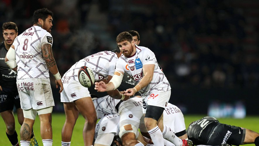Adrien Pelissie of Bordeaux during the Top 14 match between Toulouse and Bordeaux Begles at Stade Ernest Wallon on November 3, 2018 in Toulouse, France. (Photo by Manuel Blondeau/Icon Sport)