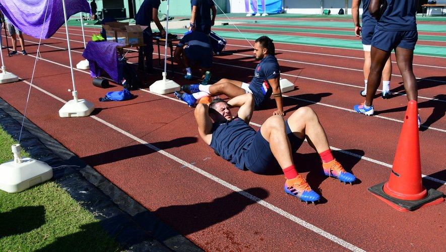 Guilhem Guirado (France) lors d'un entraînement des Bleus