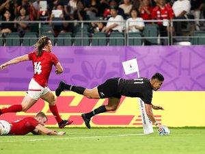 Rieko Ioane (Nouvelle-Zélande) contre le Canada