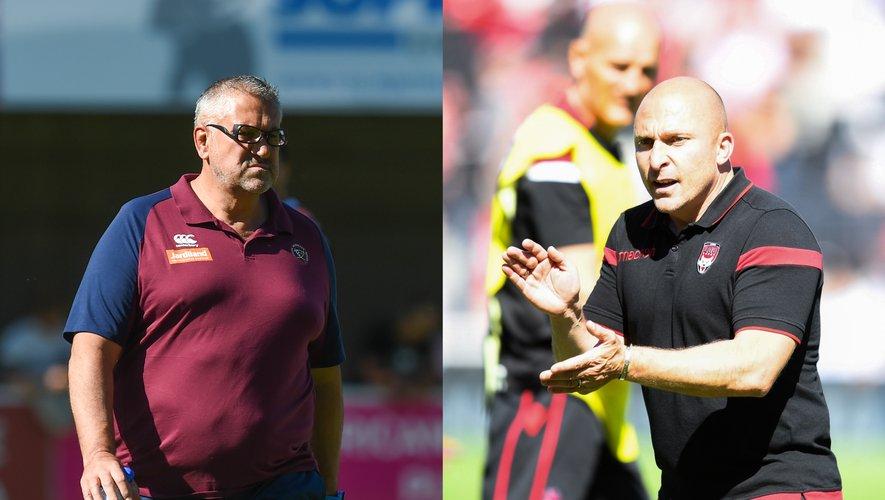 Christophe Urios (Bordeaux) et Pierre Mignoni (Lyon) vont se rencontrer ce soir pour une bataille pour la première place
