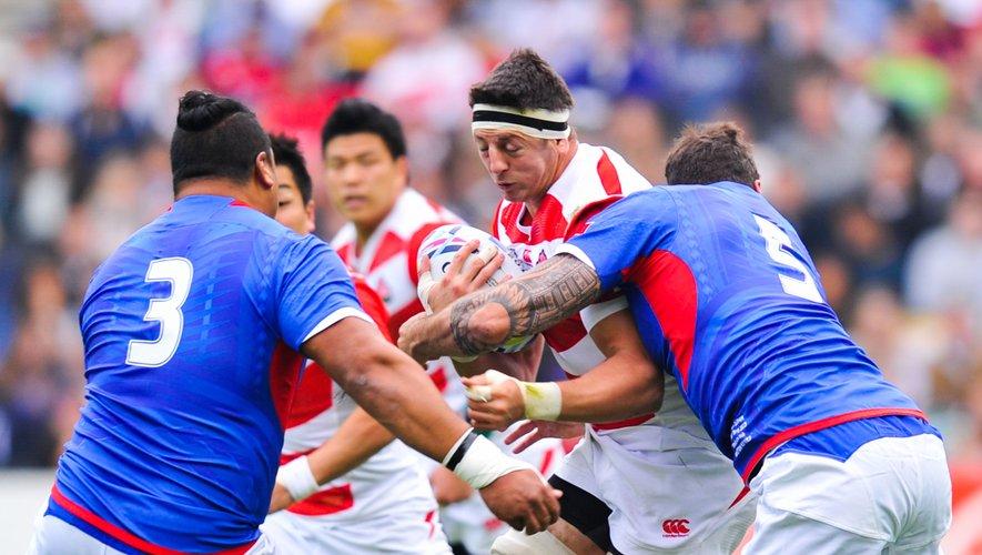 Au sortir de leur victoire contre les Samoa, les coéquipiers de Luke Thompson et le peuple japonais peuvent encore rêver. Photo Icon Sport