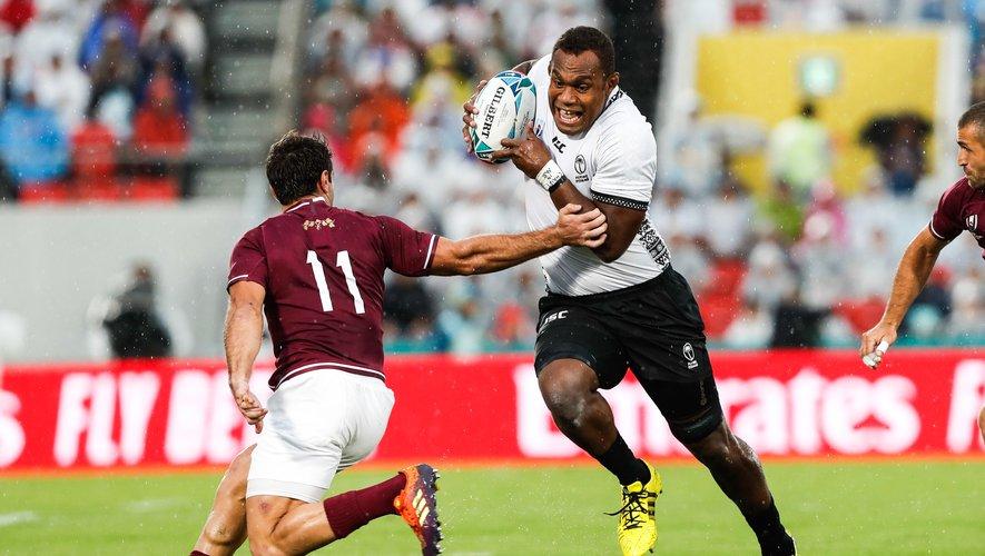 Les Fidjiens de Leone Nakarawa veulent surfer sur la confiance engrangée face aux Géorgiens pour faire douter les Gallois. Et même s'il ne leur reste qu'une infime chance de se qualifier… Photo Icon Sport