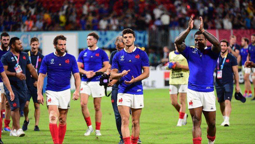 Les Bleus après leur victoire sur le Tonga