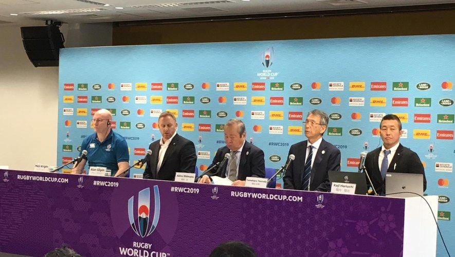 Jeudi midi, le directeur de la Coupe du monde de rugby 2019, Alan Gilpin annonce à la presse l'annulation des matchs France - Angleterre et Nouvelle-Zélande - Italie.