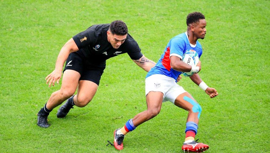 Helarius Kisting (Namibie) contre la Nouvelle-Zélande