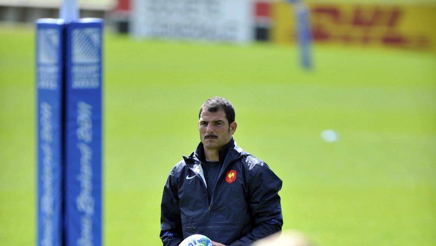 Marc Lièvremont en novembre 2011, lors de la Coupe du monde en Nouvelle-Zélande. Il était alors sélectionneur des Bleus.