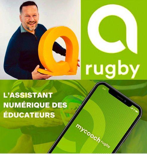 Christian Califano a lancé avec Cédric Messina une application « My coach rugby » pour venir en aide aux éducateurs avec notamment des fiches d'entraînements, des planifications, ou autres statistiques Photo DR