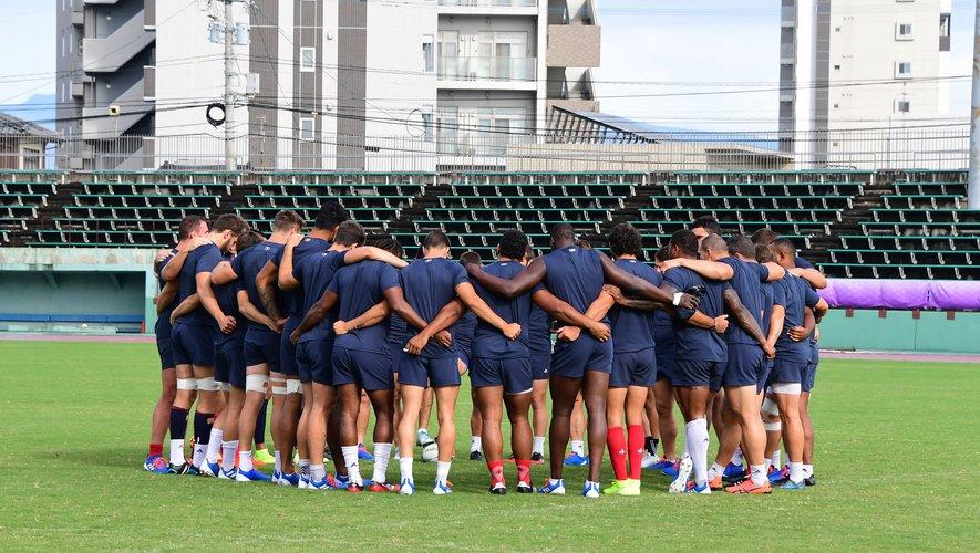 L'équipe de France durant un entraînement