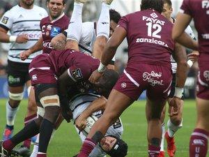 Le plaquage du capitaine Mahamadou Diaby sur l'arrière briviste Thomas Laranjeira aura coûté cher à son équipe. Photo DR