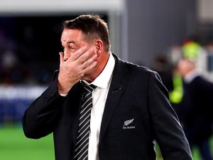 Steve Hansen (Nouvelle-Zélande) après la défaite de son équipe face à l'Angleterre