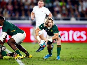 Faf de Klerk (Afrique du Sud) lors de la finale contre l'Angleterre