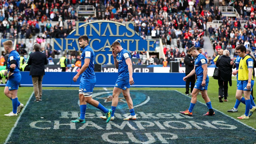 Leinster dejection after the game during the Champions Cup Final at St James' Park, Newcastle. On May 11th, 2019. Photo: David Davies / PA Images / Icon Sport