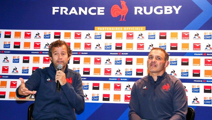 Le nouveau sélectionneur Fabien Galthié a répondu aux questions en compagnie de son manager général Raphaël Ibañez.
