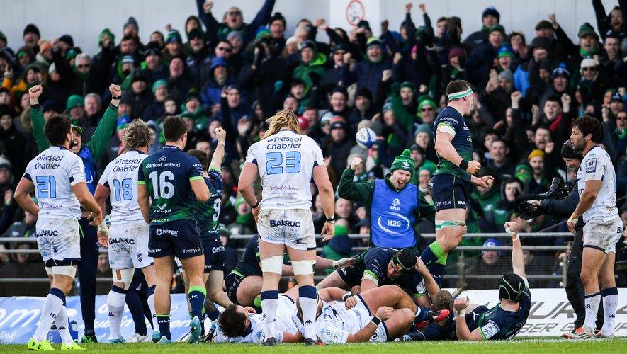 Trop de fautes techniques, trop de turnovers pour permettre aux Héraultais de revenir du Connacht avec une victoire. Photo Icon Sport