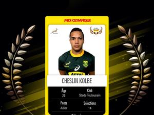 Cheslin Kolbe (Afrique du Sud) élu Oscar monde par le Midi Olympique