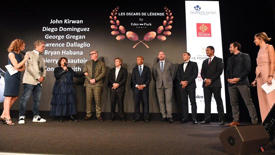 Véronique Valette lors de la cérémonie des Oscars Midi Olympique