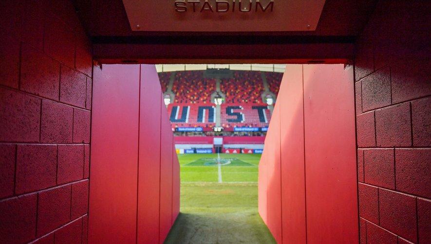 Le tunnel des joueurs du Thomond Park.