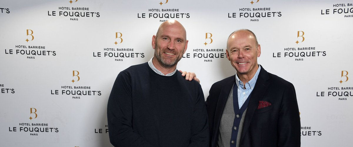 Clive Woodward, à droite, a retrouvé Lawrence Dallaglio à l'occasion de la 66é cérémonie des Oscars du Rugby Midi Olympique