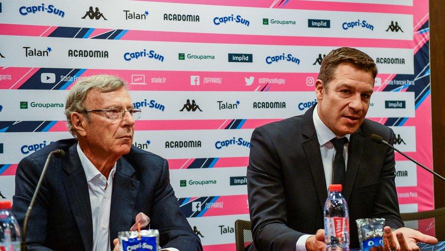 Hans Peter WILD et Thomas LOMBARD (Stade Français)