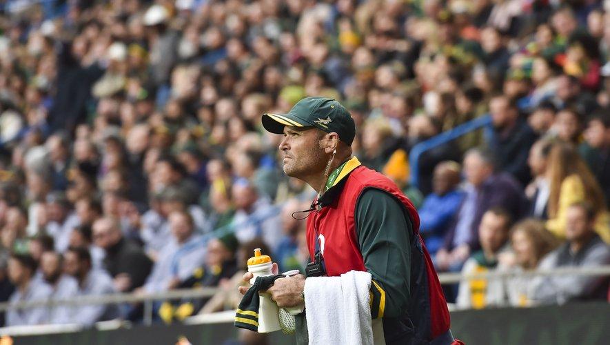 Jacques Nienaber, le « porteur d'eau » des Springboks durant le Mondial, pourrait devenir le futur sélectionneur des champions du monde.
