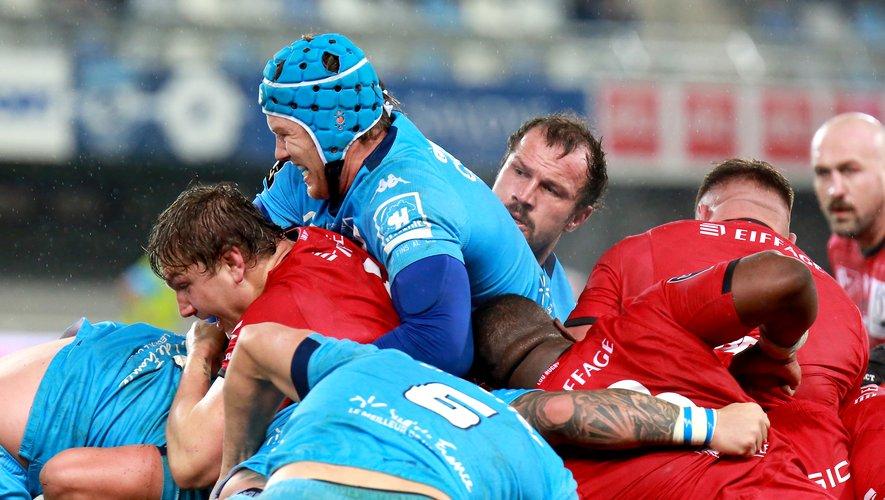 Les Héraultais ont misé sur les mauls et ce fut concluant : quatre des cinq essais ont été inscrits à la suite de groupés-pénétrants.Photo Fabrice Chort