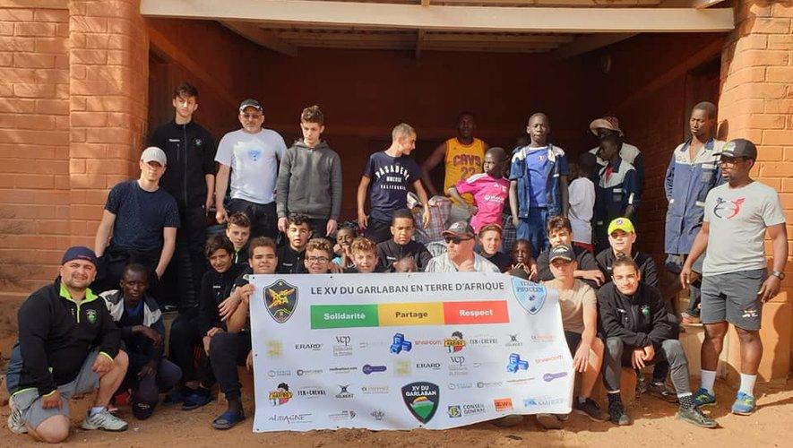 Le XV du Garlaban en voyage humanitaire en Afrique.