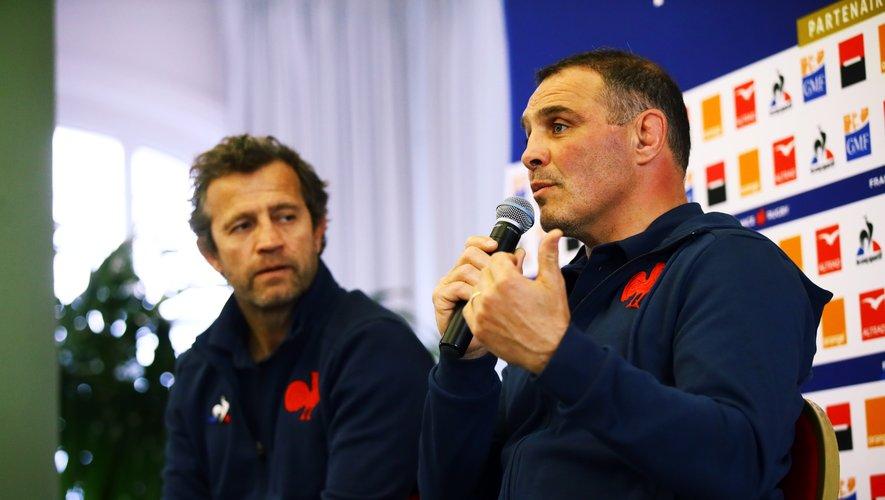 Fabien Galthié et Raphaël Ibanez à Hossegor