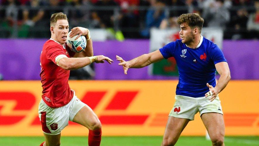 Coupe du monde 2019 - Liam Williams (pays de Galles) face à Damian Penaud (France)