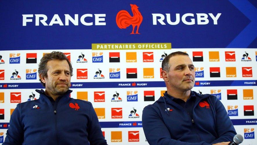 Fabien Galthié et Raphaël Ibanez.