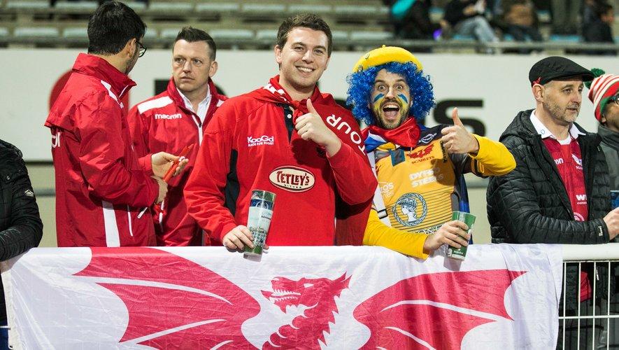 Les supporters des Scarlets durant la Challenge Cup