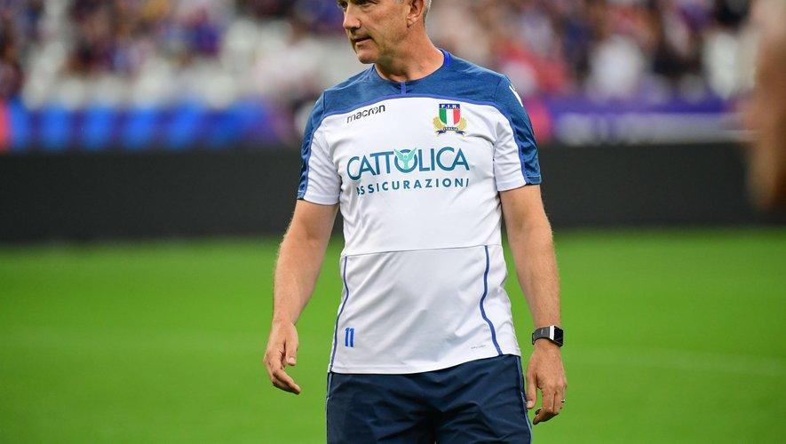Conor O'shea (Italie)  après le match contre la France pour la préparation à la Coupe du monde 2019