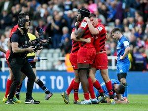 Maro Itoje et Owen Farrell (Saracens) contre le Leinster en finale de Champions Cup