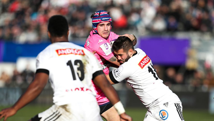 Alex Arrate (Stade français) contre Brive