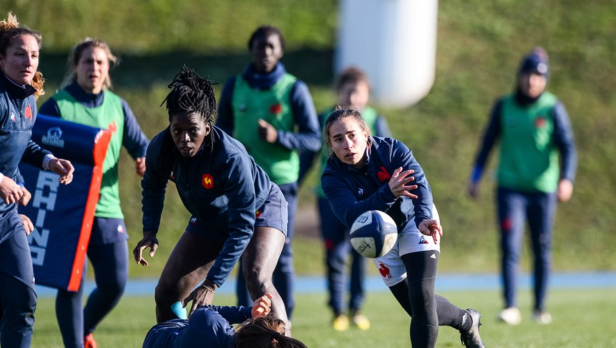 Laure SANSUS of France during the training session of Women's French Rugby Team on January 21, 2020 in Marcoussis, France. (Photo by Baptiste Fernandez/Icon Sport) - Laure SANSUS - Marcoussis (France)