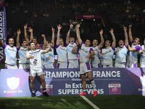 Les Racingmen sont les premiers vainqueurs du Super Sevens, après avoir battu en finale la Section paloise Béarn Pyrénées Sevens. Le terme sportif d'une journée où la Paris-La Défense Arena a fait le plein, pour une ambiance superbe.