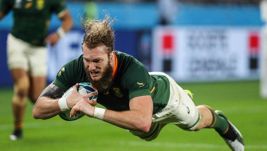 Coupe du monde 2019 - RG Snyman (Afrique du Sud) inscrivant un essai