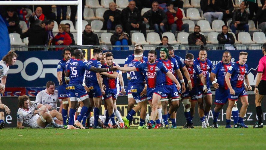 Pro D2 - L'équipe de Grenoble contre Oyonnax