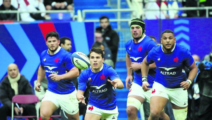 Marchand, Dupont, Alldritt et Haouas, sonnent la charge des Bleus.
