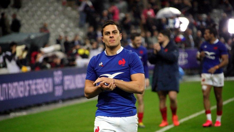 Arthur Vincent (France) après la victoire contre les Anglais