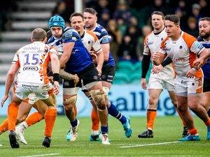 Mal en point, Bath a réussi une bonne opération à Worcester grâce notamment à l'excellente prestation de Zach Mercer. Photo Icon Sport